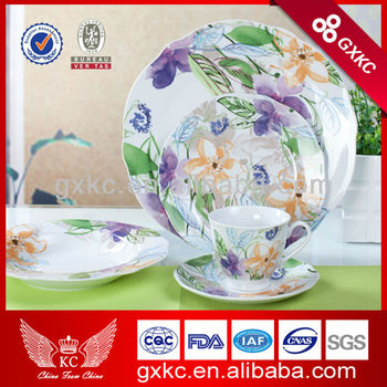 Colorful customized china ceramic dinnerware sets new product with purple flower design (SHZ3772)  sc 1 st  Guangxi Sanhuan Enterprise Group Holding Co. Ltd. - Alibaba & Colorful customized china ceramic dinnerware sets new product with ...