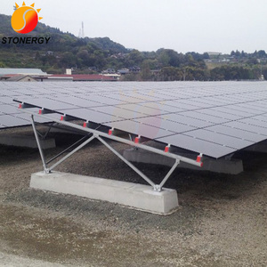 Aluminum Solar PV Panel Ground Mounts Kits For Solar Mounting System