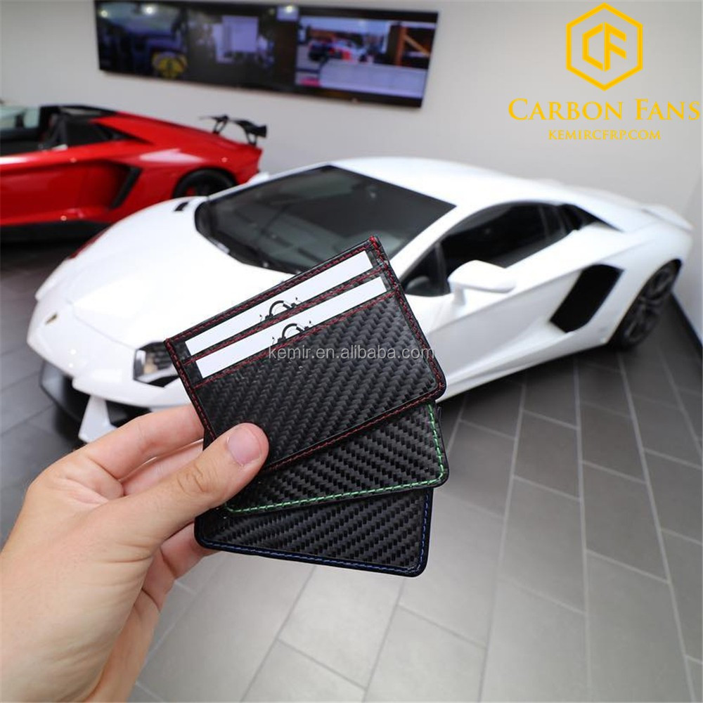 RFID block Real Carbon fiber credit card holder wallet for ...