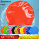 No MOQ Printing Design Funny Adult Shiny Custom Silicone Swim Cap None Wrinkle swimming caps