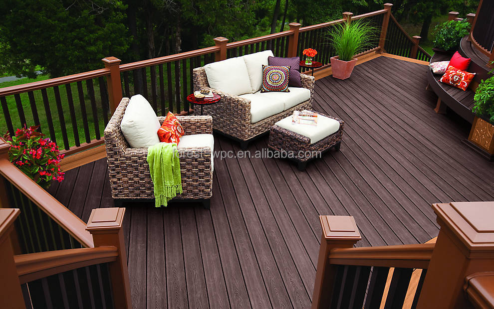 Frstech Balcony Flooring Wood Plastic Patio Floors Floor Boards