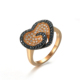 Latest popular design heart block artificial neelam stone ring