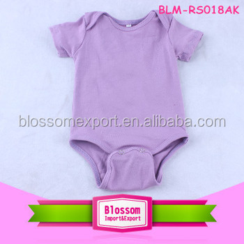 2016 In Stock Custom Design Baby Clothes Solid Color Cotton Plain