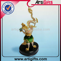 Custom 3D golden dragon jade figurine