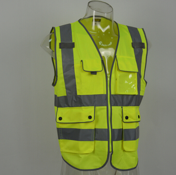 high visibility wholesale EN20471 reflective customized safety vest