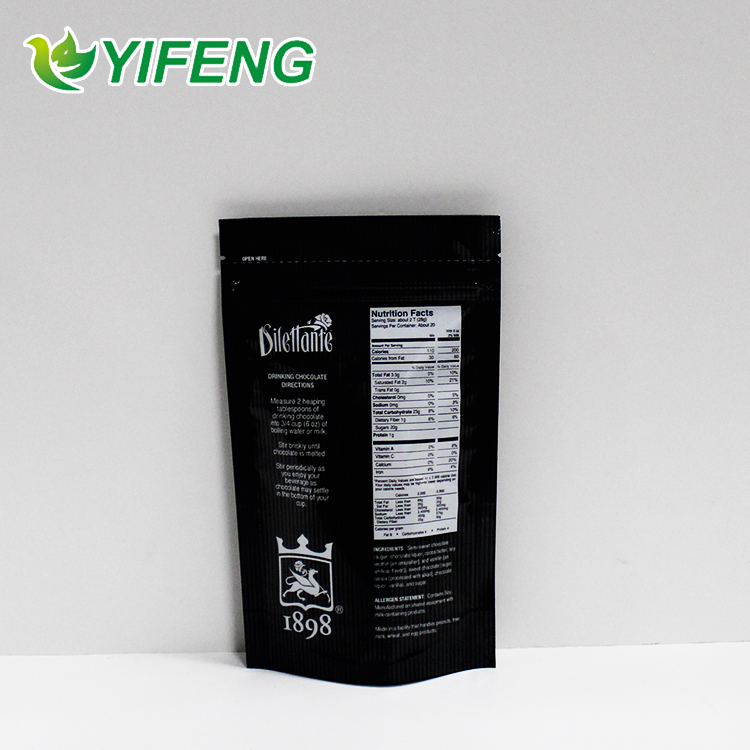 Customized stand up pouch printing / digital print stand up pouch / foil packets For Snack Packaging Bag