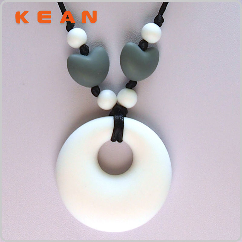 Silicone Teething Pendant/Cute Boy And Girl Pendant Necklaces