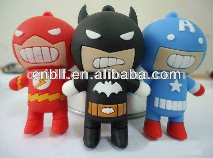Promotion gift super hero flash drive usb 8gb