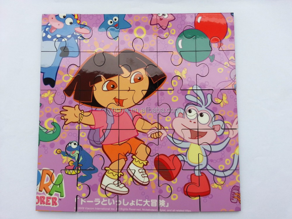 17X17CM printable kid non toxic wooden jigsaw, sublimation mdf puzzles