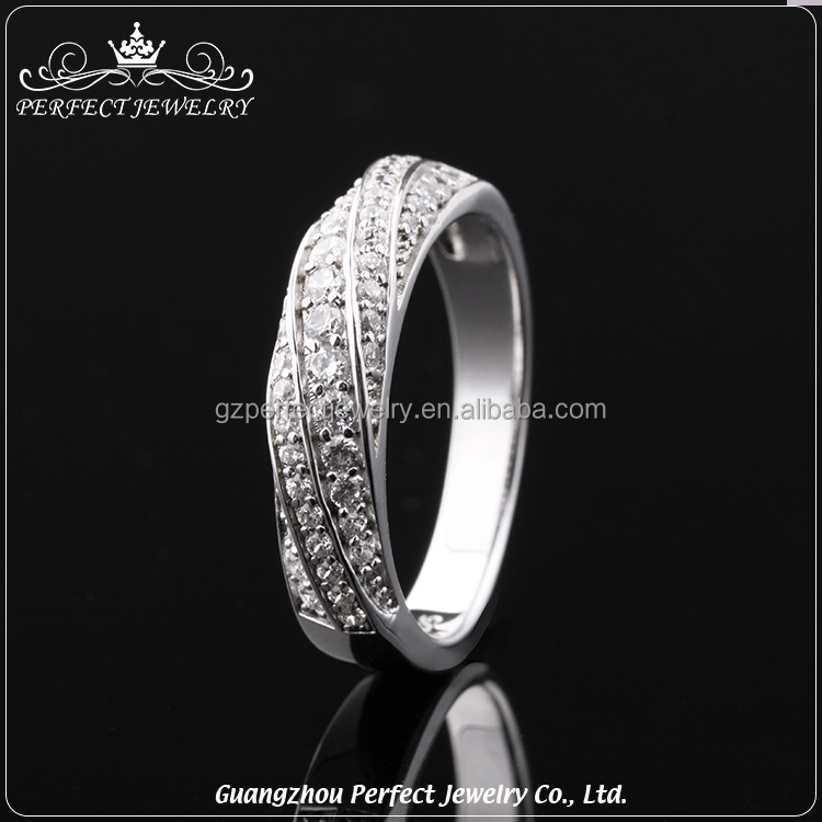 2017 Top Sale Trending Products Classic Style Ladies 925 Sterling Silver Ring Diamond Jewellery