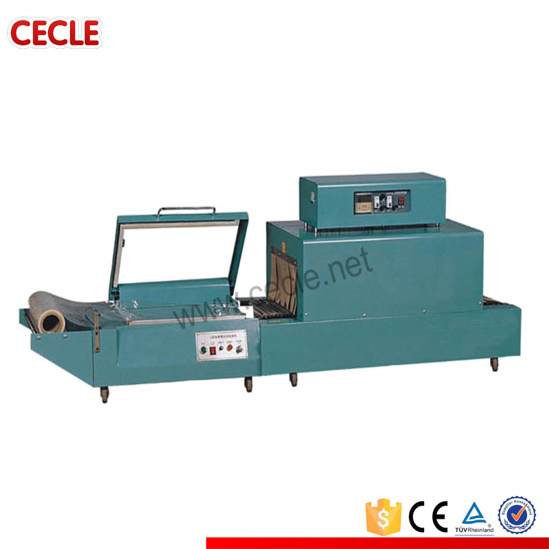 India china lower price sealing machine and heat tunnel shrink wrapping machine