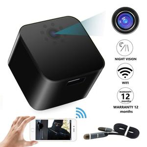 1080p Wifi ip Hidden USB wall charger spy camera 128GB with motion sensor mini plug camera hidden mini camera adapter