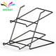 Modern 2 Tier Metal Wire Floor Standing Advertising Used Supermarket Bread Display Shelf