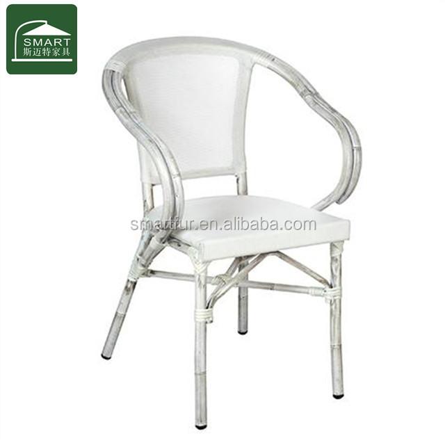 Moderne blanc à manger chaise salon de jardin-Chaises de ...