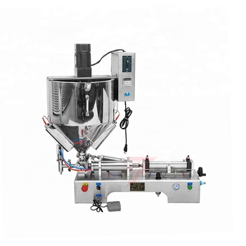 Salad dressing heated hopper mixing balm filling machine