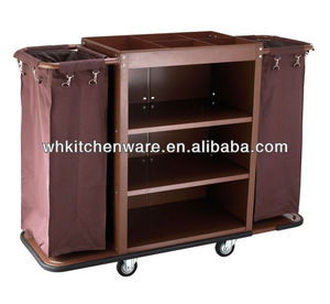 Three Tiers Assembled Hotel Room Service Trolley