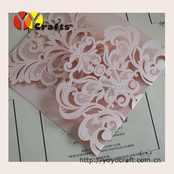 China wholesale laser cut wedding invitations blank fashion invitation cards