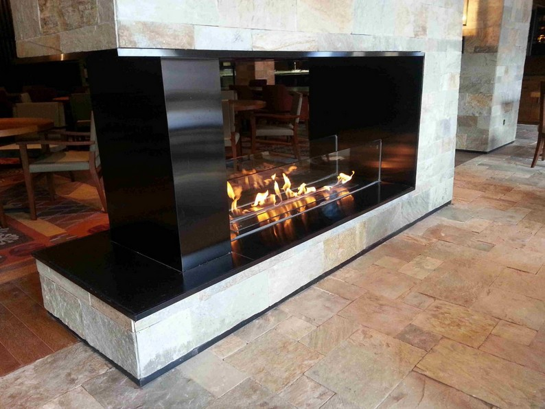 Recessed Insert Built In Fireplace Bio Ethanol For Fuel