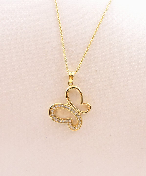Elegant gold butterfly pendant necklace for girls buy necklaces elegant gold butterfly pendant necklace for girls aloadofball