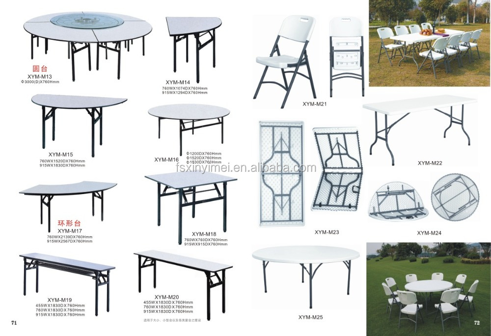 Moveable Plastic Folding Wedding Chairs and Tables