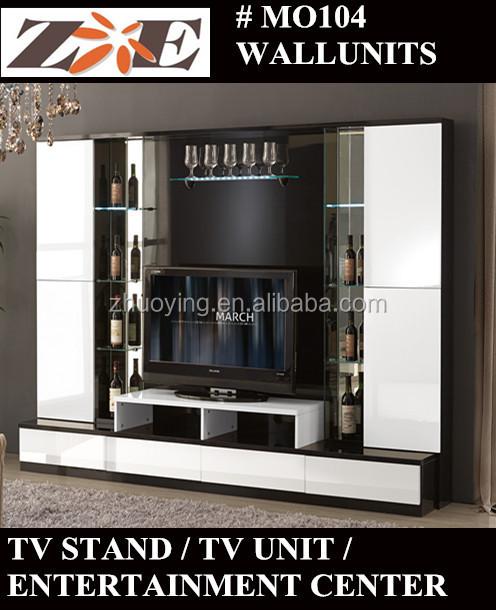 Lcd Tv Wall Unit / Tv Stand Modern Design Furniture Foshan