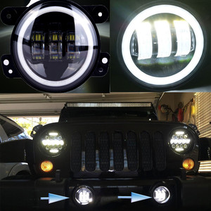30w 4 inch Car Front Bar Angel Eye Fog Light Transformed Wrangler Front Front Fold Light Lamp Fog Light Wrangler Ac