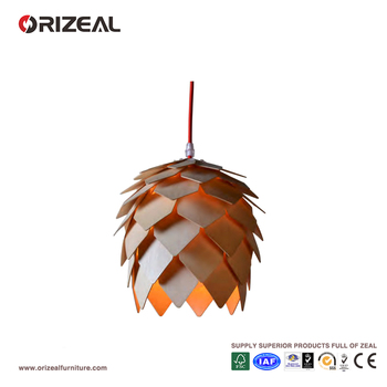 American countryside simple Crimean Pinecone shape wooden pendant lamp/light/chandelier OZ-AL659