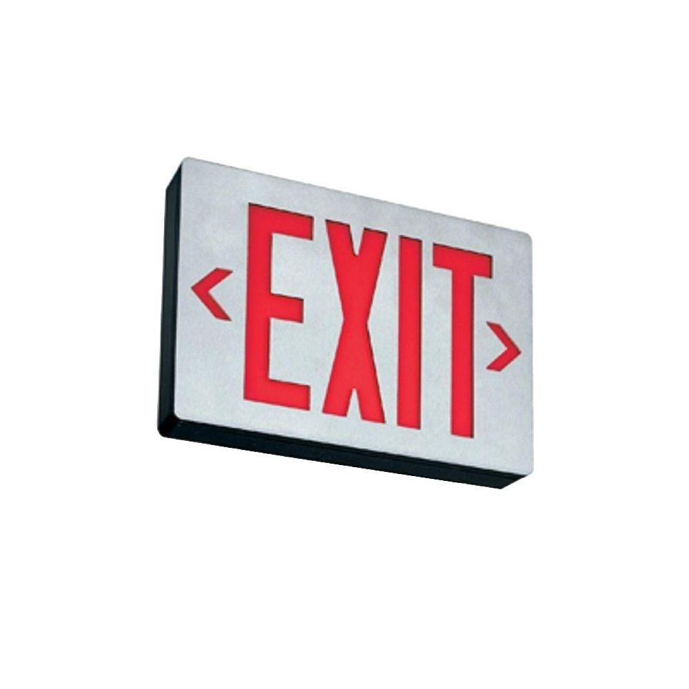 Lithonia Lighting LE S W 2 R EL N 2W LED Exit Sign, White