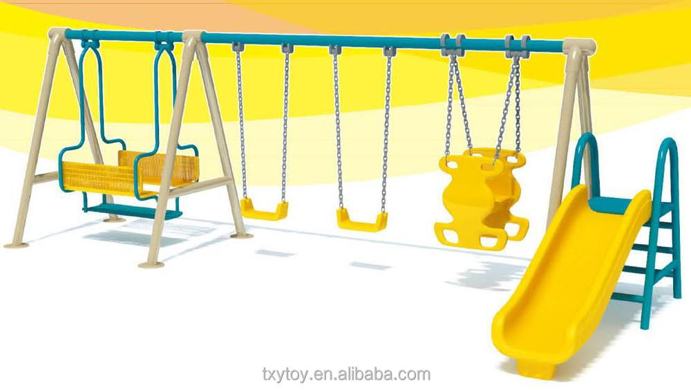 Outdoor Plastic Swing Sets And Slide For Kids On Sale