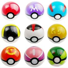 (Pokeball) Wholesale 9 Different Styles Pokemon Ball, Latest Hot Sale Pokemon Go Toys, 7CM GS Poke Ball Doll