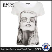MGOO Custom Made Dye Sublimation T shirt Printing White Cotton T-shirt Eco-friendly Tee Shirts 15113A653