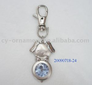 fashion key chain/clock keychain