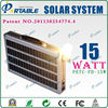 15W Portable Solar Home System with Built-in AC Charger for most of digital products