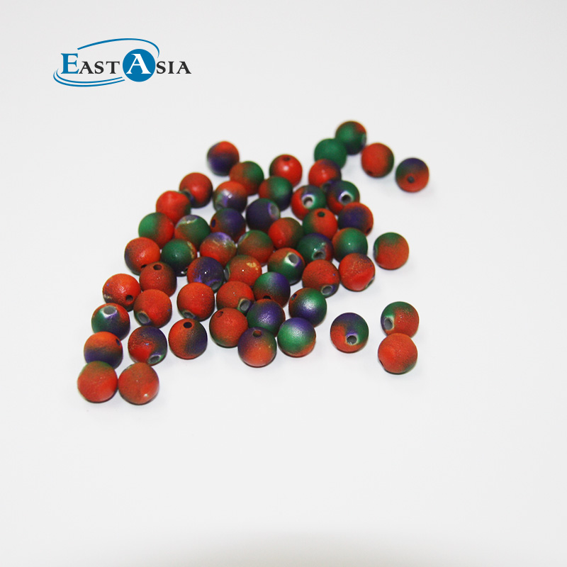 7mm Plastic Round Beads Colour Changing Beads For Bracelet Making