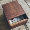 Antique Retro Wooden Tissue Box Handmade vintage wood photo box