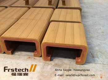Waterproof Wpc Outdoor Bench Simple Wooden Design Wood Plastic Composite Deck