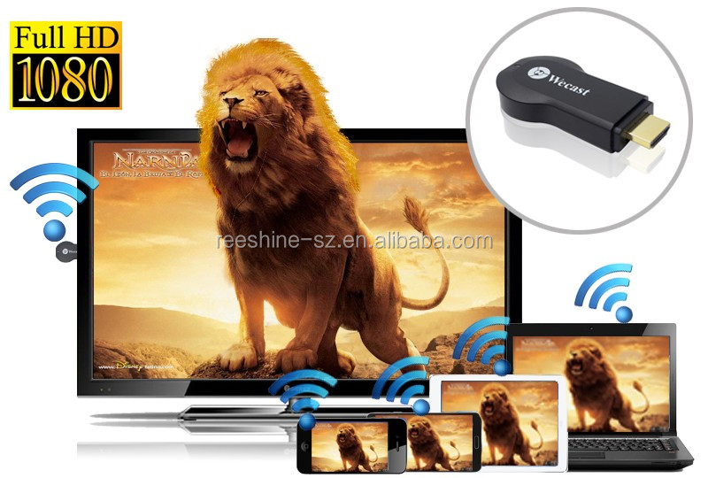 Reeshine WiFi Wecast C2 android tv dongle chromecast anycast miracast Display del Ricevitore TV Dongle