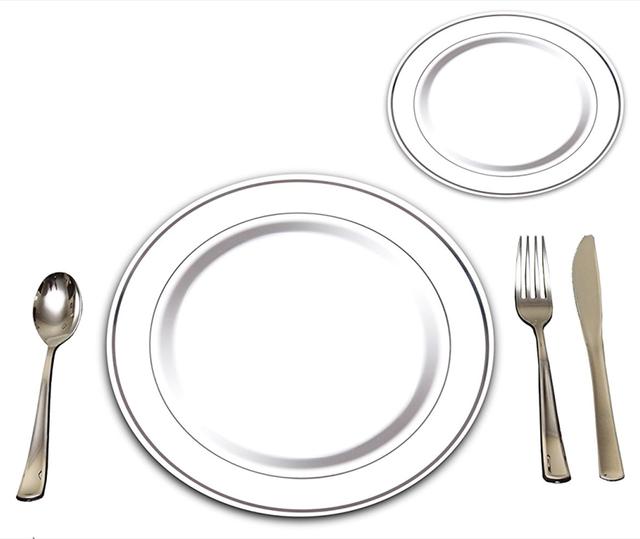 Wholesale Disposable Heavyweight Elegant Plastic Plate tableware sets  sc 1 st  Alibaba & China Disposable Plates Set Wholesale ?? - Alibaba