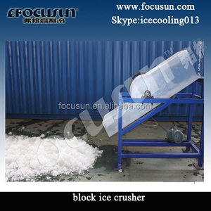 Industrial ice crushing machine for 25kg 50kg block ice