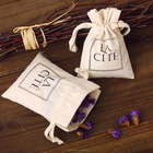 Eco-friendly Natural Cotton Pouch Cotton Gift Bag