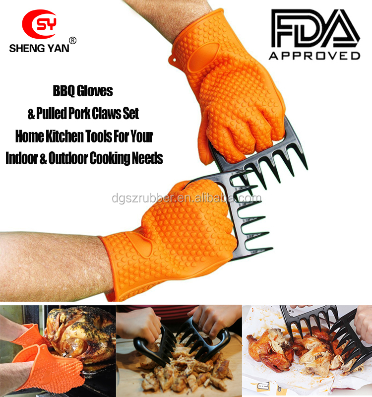 Made in USA Original Bear Claws PLUS heat resistant silicon BBQ glove