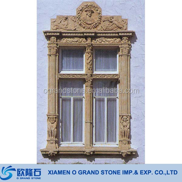 French Decorative Window Frames Natural Granite Stone Frame