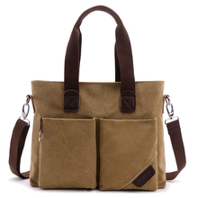 패션 korean style men laptop bag canvas briefcase