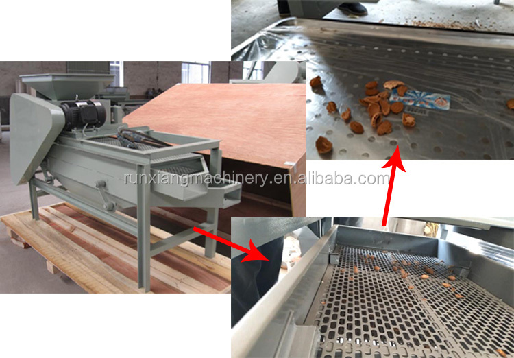 औद्योगिक 500 kg/h अखरोट बादाम हेज़लनट अखरोट खुर sheller मशीन