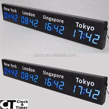 Led Digital Electronic World Clock Daylight Saving Time