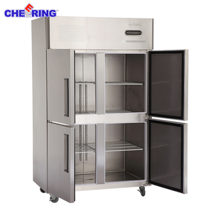 Four doors use export compressor commercial refrigerator and freezer refrigerator hotel kitchen