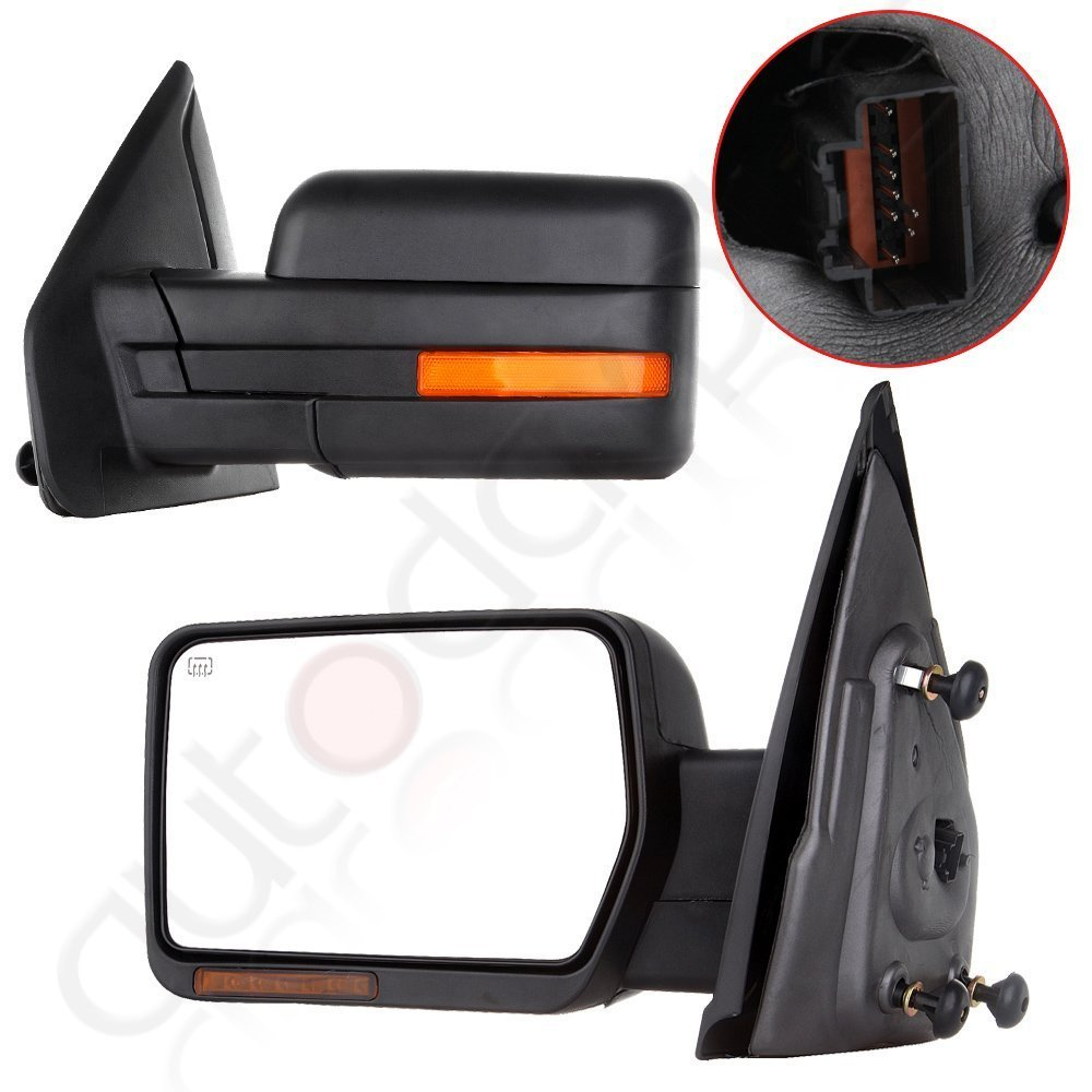 Get Quotations  C B Scitoo Towing Mirrors For   Ford F Power Heated Led Signal Puddle Lamp Side