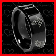 cheap mens masonic titanium signet ring