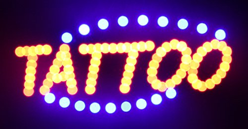 CO-RODE LED Neon light Tattoo Signboard Display Shop Board Business Light Signs Pack of 1