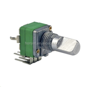 9mm dual gang carbon firm rotary potentiometer 5k 50k 1k 100k 500k 1M